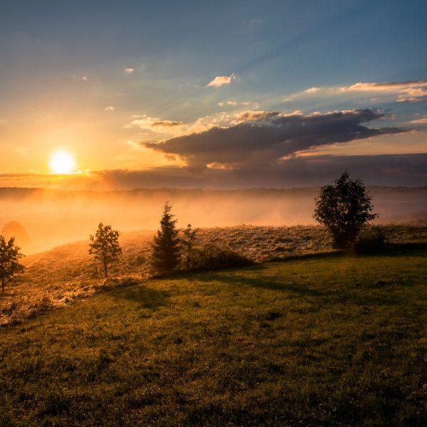Ein wunderschöner Sonnenaufgang ist ein Grund warum ich früh aufstehe