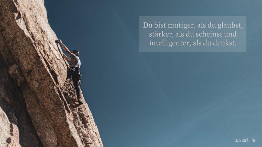 Hintergrundbild: du bist mutiger, als du glaubst